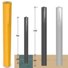 Leda Securapost 150NB Industrial Round Fixed Bollards