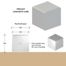 Cube Concrete Bollards