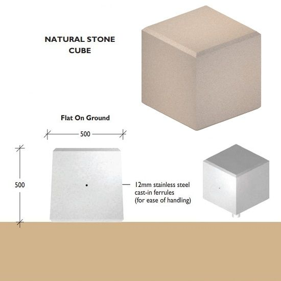 Cube Natural Stone Bollards