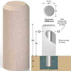 Russell Round Natural Stone Bollards