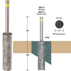Securapost Manual VAC 100NB Retractable Bollards