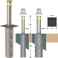Securapost Pneumatic VAC 150NB Retractable Bollards