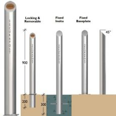 Securapost Regal Stainless Steel 125NB Removable Bollards