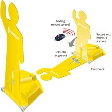Securapost Securapark Fold Down Automatic Bollards