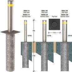 Securapost Semi Automatic VAC 100NB Retractable Bollards