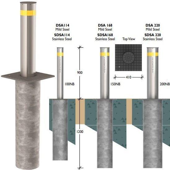 Securapost Semi Automatic VAC 200NB Retractable Bollards